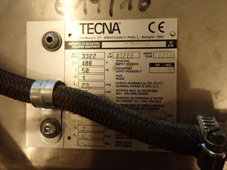 leasing - ZGRZEWARKA KLESZCZOWA TECNA - 3322